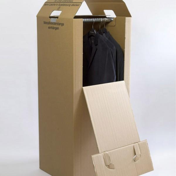 Kleiderkarton offen